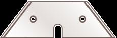 06-546-083.100AH 100 Stück Spezial-Trapezklingen 614