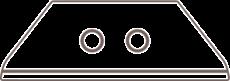 1760099.25 Martor 2 Stück Keramikklingen Nr. 60099C